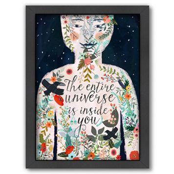 Americanflat ''The Entire Universe Is Inside You'' Framed Wall Art