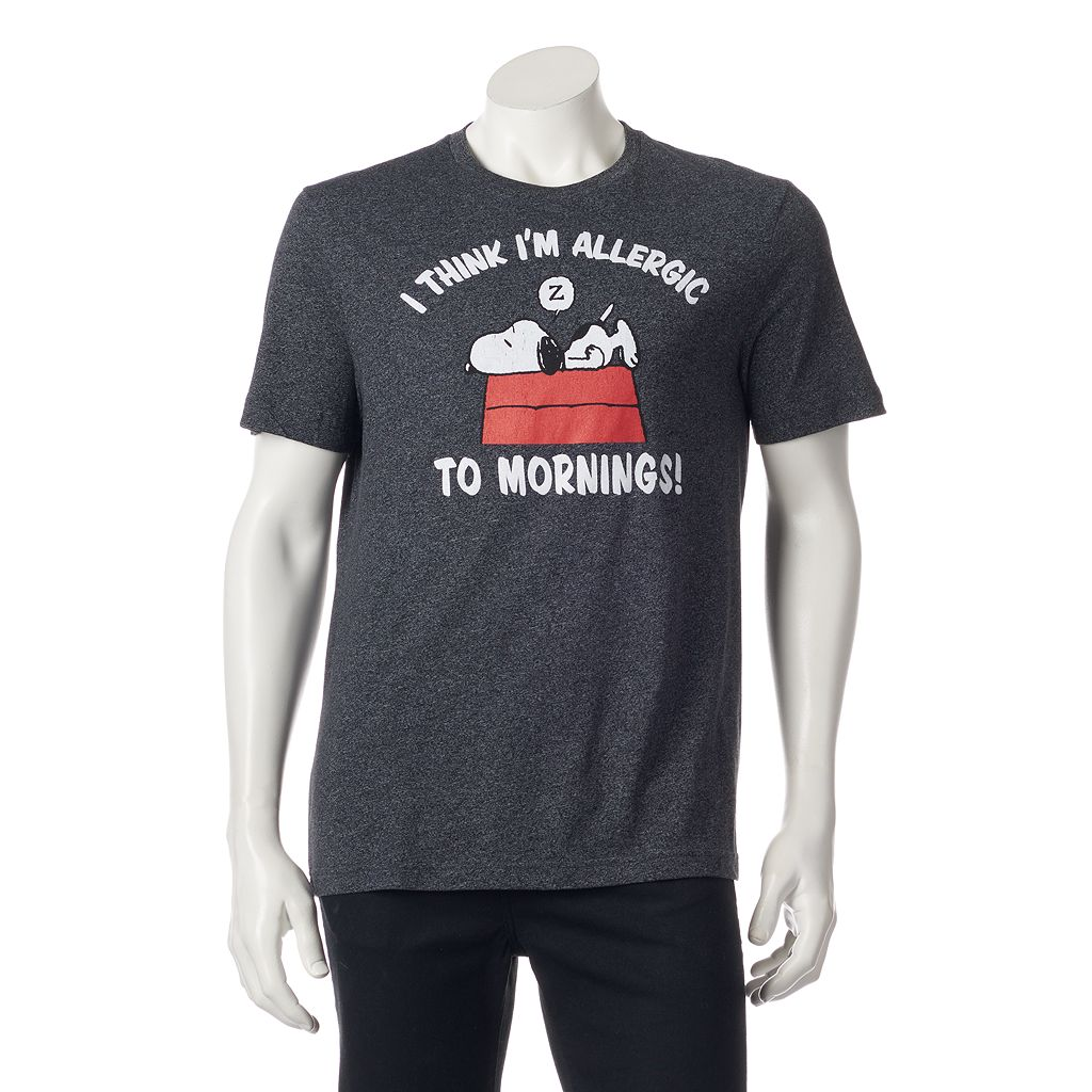 Men's Peanuts I Think I'm Allergic To Mornings! Tee