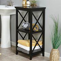RiverRidge Home X-Frame 3-Shelf Storage Tower
