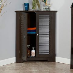 RiverRidge Home Ellsworth 3-Shelf Corner Cabinet