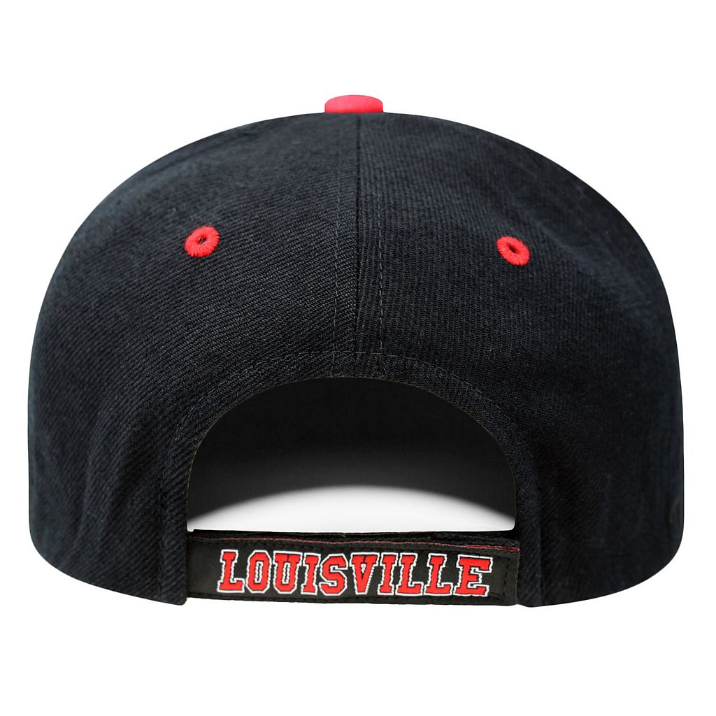 Adult Top of the World Louisville Cardinals Triple Threat Adjustable Cap