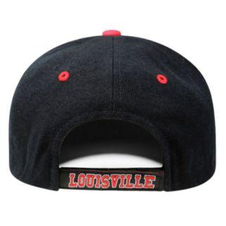 Adult Top of the World Louisville Cardinals Triple Threat Adjustable Cap