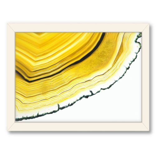 Americanflat Urban Road Agate Section Yellow Framed Wall Art