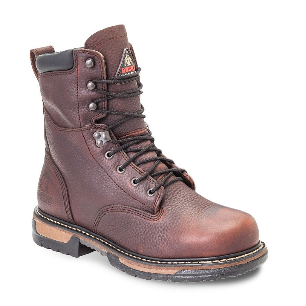 Rocky IronClad Men's 8-in. Waterproof Work Boots
