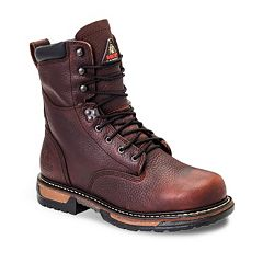 Rocky IronClad Men's 8 in Waterproof Steel Toe Work Boots