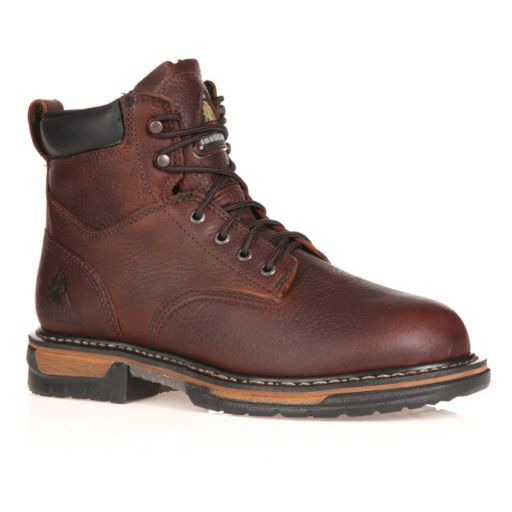 Rocky IronClad Men's 6-in. Waterproof Steel Toe Work Boots