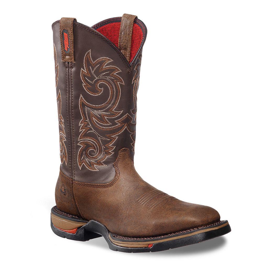 Rocky 12-in. Long Range Men's Waterproof Steel Toe Western Work Boots