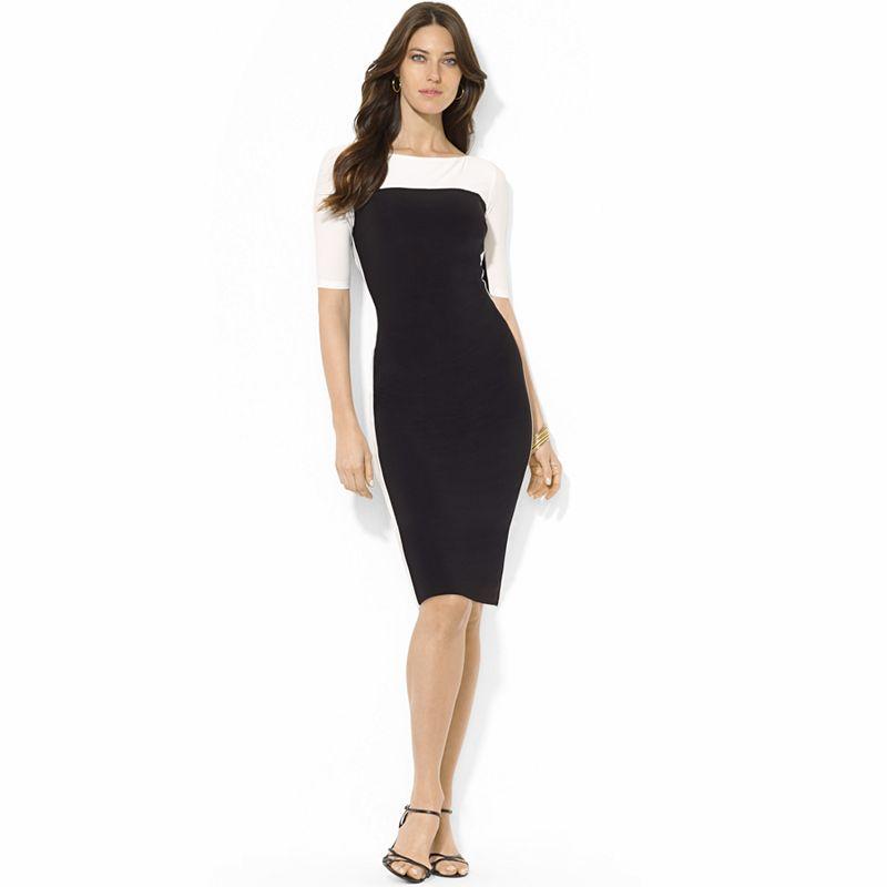 Women's Chaps Colorblock Pleated Sheath Dress