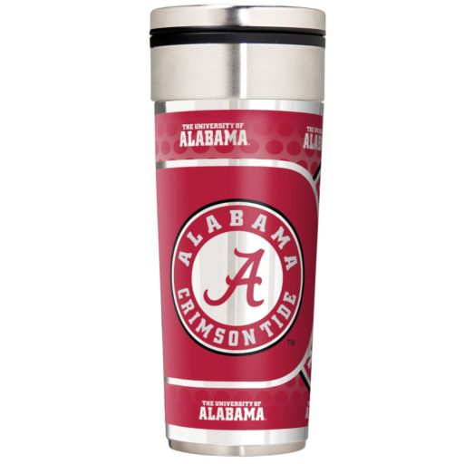 Alabama Crimson Tide Stainless Steel Metallic Travel Tumbler