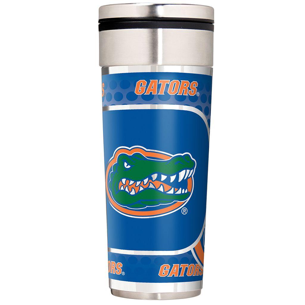 Florida Gators 22-Ounce Stainless Steel Metallic Travel Tumbler