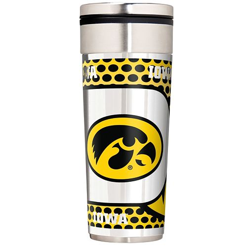 Iowa Hawkeyes 22-Ounce Stainless Steel Metallic Travel Tumbler