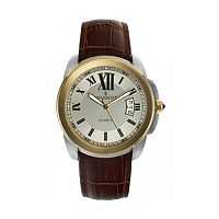 Peugeot Men's Leather Watch