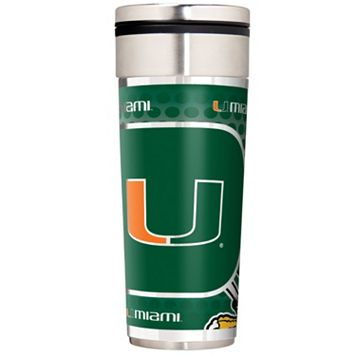 Miami Hurricanes Stainless Steel Metallic Travel Tumbler