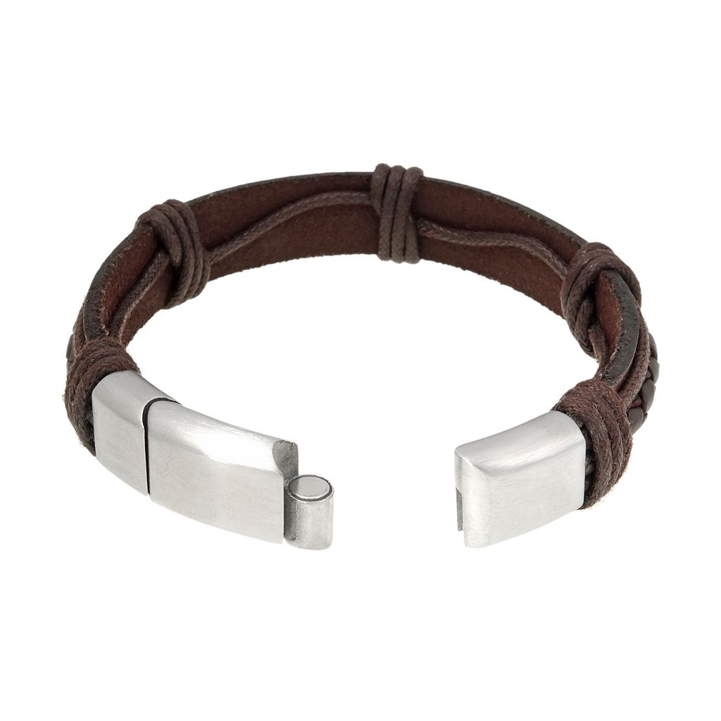 LYNX Stainless Steel Braided Bracelet - Men