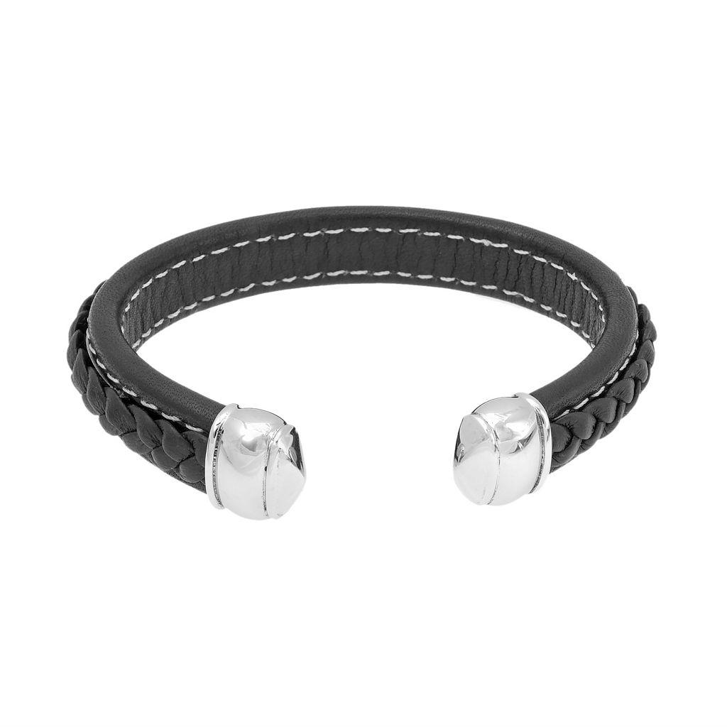 LYNX Stainless Steel Braided Cuff Bracelet - Men