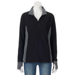 Juniors' SO® Half-Zip Microfleece Top