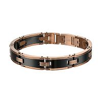 LYNX Pink Ion-Plated Stainless Steel & Black Ceramic Bracelet - Men