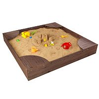 KidKraft Espresso Backyard Sandbox