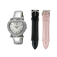 Peugeot Women's Watch & Interchangeable Leather Band Set - 681S