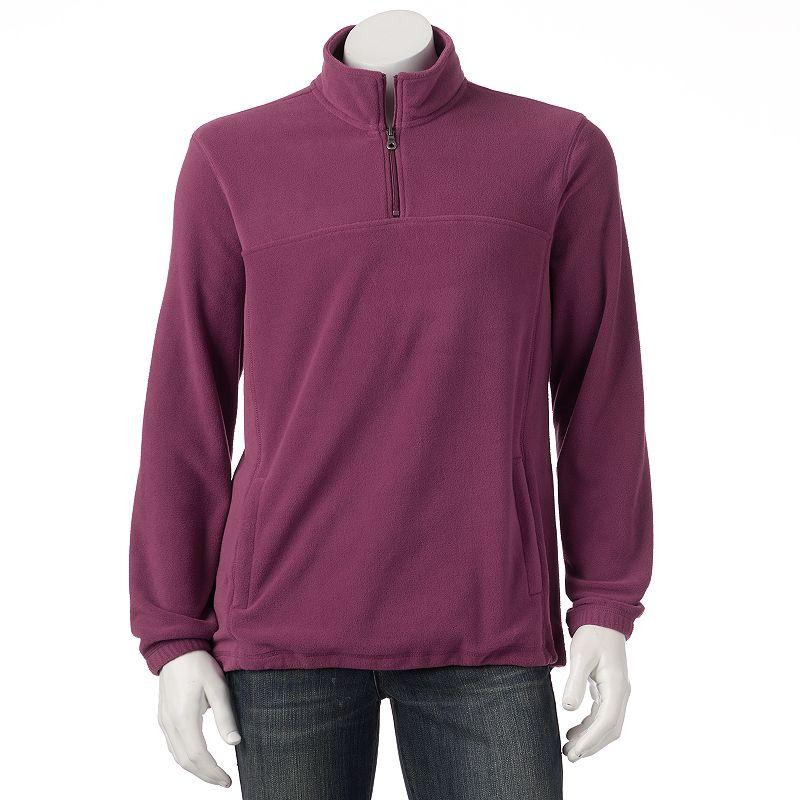 Big & Tall Croft & Barrow® Classic-Fit Solid 1/4-Zip Arctic Fleece Pullover