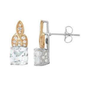 100 Facets of Love Sterling Silver Lab-Created White Sapphire Stud Earrings