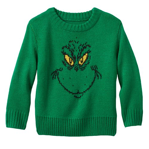 dr seuss the grinch christmas sweater toddler boy