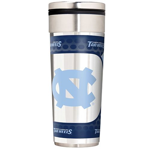 North Carolina Tar Heels Stainless Steel Metallic Travel Tumbler