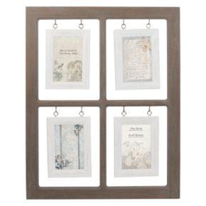 Belle Maison Hanging Window Pane 4-Opening 4'' x 6'' Fashion Collage Frame