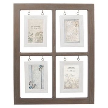 Belle Maison Hanging Window Pane 4-Opening 4'' x 6'' Fashion Collage Frame