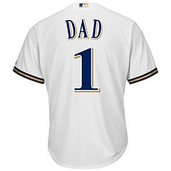 Men's Majestic Milwaukee Brewers #1 Dad Replica Jersey