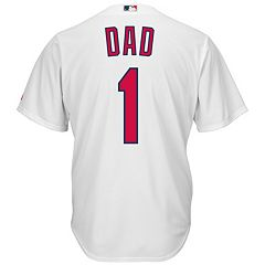 Men's Majestic St. Louis Cardinals #1 Dad Replica Jersey