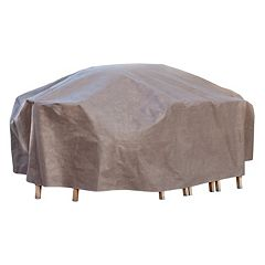 Duck Covers Elite 96 in Rectangle Patio Table Cover and Inflatable Airbag
