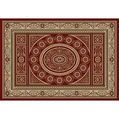 Merinos Aubusson Medallion Framed Rug
