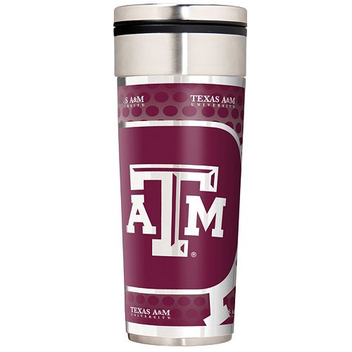 Texas A&M Aggies Stainless Steel Metallic Travel Tumbler