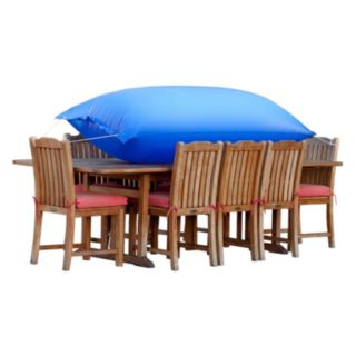 Duck Covers Elite 127-in. Rectangle Patio Table Cover and Inflatable Airbag