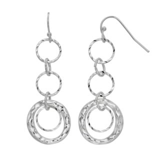 SONOMA Goods for Life? Hammered Triple Hoop Nickel Free Drop Earrings