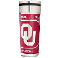 Oklahoma Sooners 22-Ounce Stainless Steel Metallic Travel Tumbler