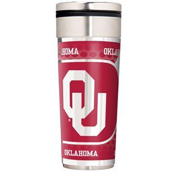 Oklahoma Sooners 22-Ounce Stainless Steel Metallic Travel Tumbler