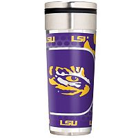 LSU Tigers 22-Ounce Stainless Steel Metallic Travel Tumbler