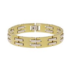 LYNX Stainless Steel Two Tone Bracelet - Men