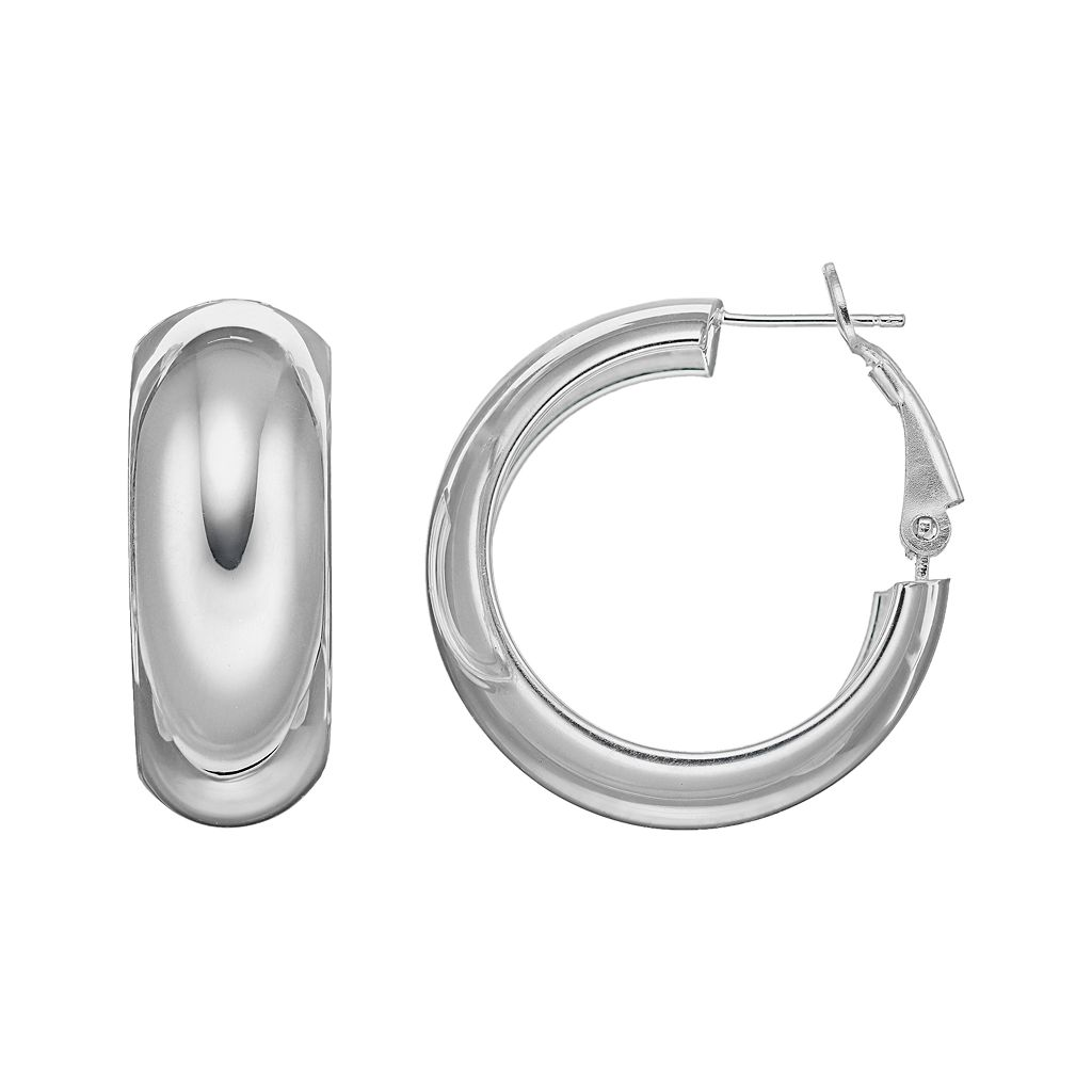 Silver Classics Sterling Silver Hoop Earrings