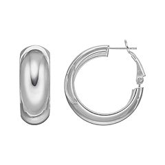 Silver Classics Sterling Silver Hoop Earrings