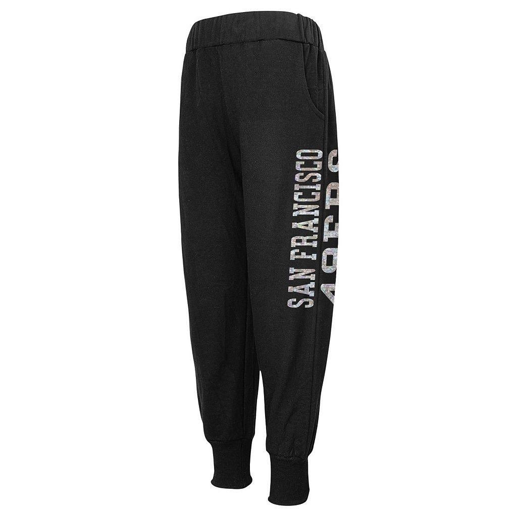 Girls 4-6x San Francisco 49ers Shimmer Harem Pants