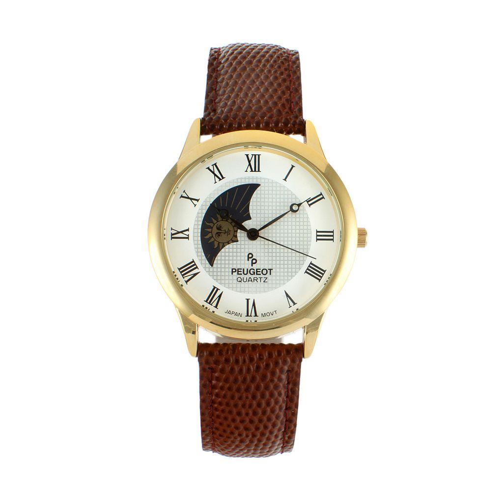 Peugeot Men's Leather Watch - 2047GBR