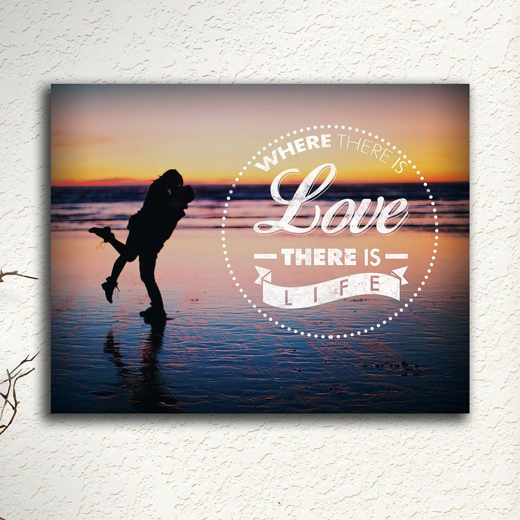 ''Love and Life'' Wall Art