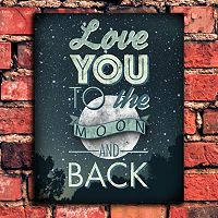 ''Love You To The Moon'' Wall Art