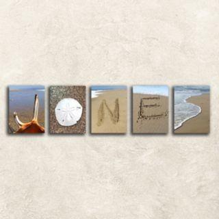 ''Coastal Alphabet'' Wall Art