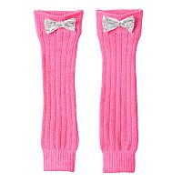Sequin Bow Knit Leg Warmers - Girls 7-14