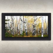 ''Misty Morning Whitetails'' Framed Canvas Wall Art
