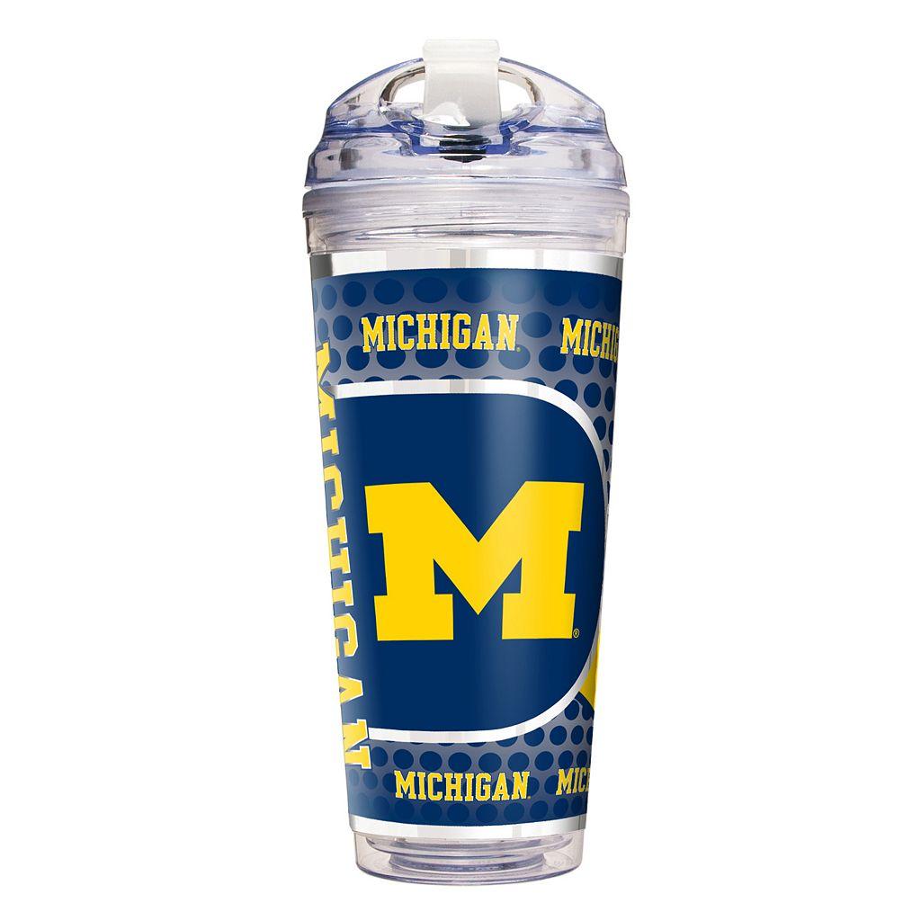 Michigan Wolverines Acrylic Tumbler With Metallic Wrap
